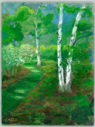 birches, Christine Mero, forest