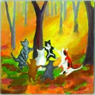 """Forest Dancing"" Christine Mero painting"
