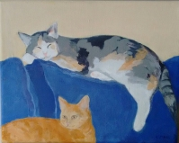 cats painting Christine Mero