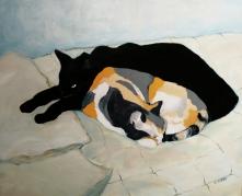 Christine Mero cat study painting