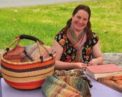 Kathy Litchfield, weaver, weaving, handwoven, scarves, shawls, textiles, fiber art